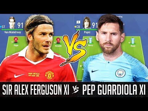 Sir Alex Ferguson XI VS Pep Guardiola XI