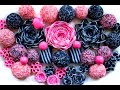 ASMR sounds. Black-pink striped soap. Friable soap balls. Cutting cubes. Relax