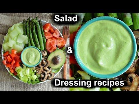 Epic Raw Vegan Salad Dressing + Healthy Salad Recipe