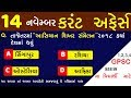 14 November 2018 | daily current affairs gujarati post |general knowledge mukhya sevika| MaruGujarat