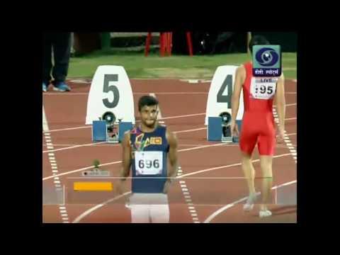 100m Semi Final Men Heat 3- 22nd Asian Athletics Championship 2017