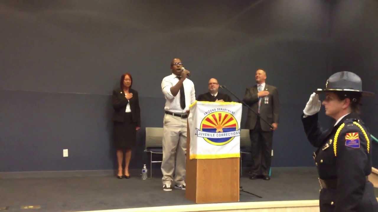 national anthem at the arizona dept  of juvenile corrections academy graduations