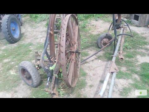 Грабли ГВС-6У(ГВВ-6) с 9-м средним колесом, спица 7мм.
