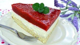 Ciasto z mascarpone i musem truskawkowym z galaretką - Jak zrobić - Smakowite Dania