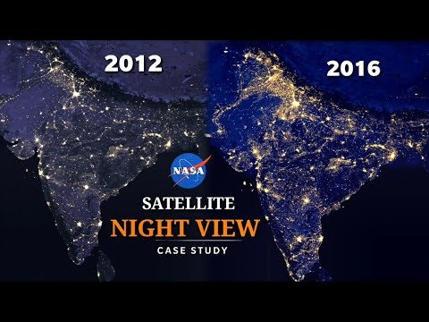 NASA Satellite Night Images Case Study | Earth's View from Space | NASA images tells many stories