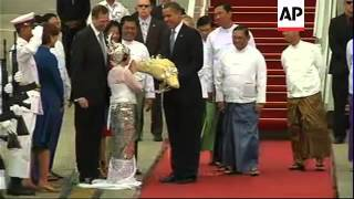 Obama becomes first sitting president to visit Myanmar
