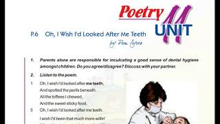 oh i wish i'd looked after me teeth class 9 in hindi