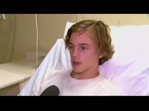 Thumbnail: Australian teen's feet bloodied by mystery sea creatures