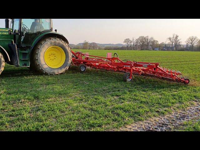 Roto-étrille sur blé - Désherbage mécanique - Agrivilainetp  Guipry Messac