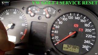 VW Golf 4 service reset - VW Golf 4 OIL Service Reset - VW Golf 4 Service Light reset