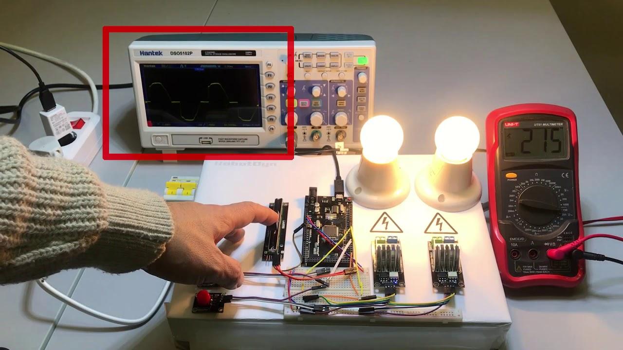 AC Light Dimmer Module, 1 Channel, 3 3V/5V logic, AC 50/60hz, 220V/110V