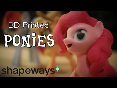 3D Printed Ponies from Shapeways