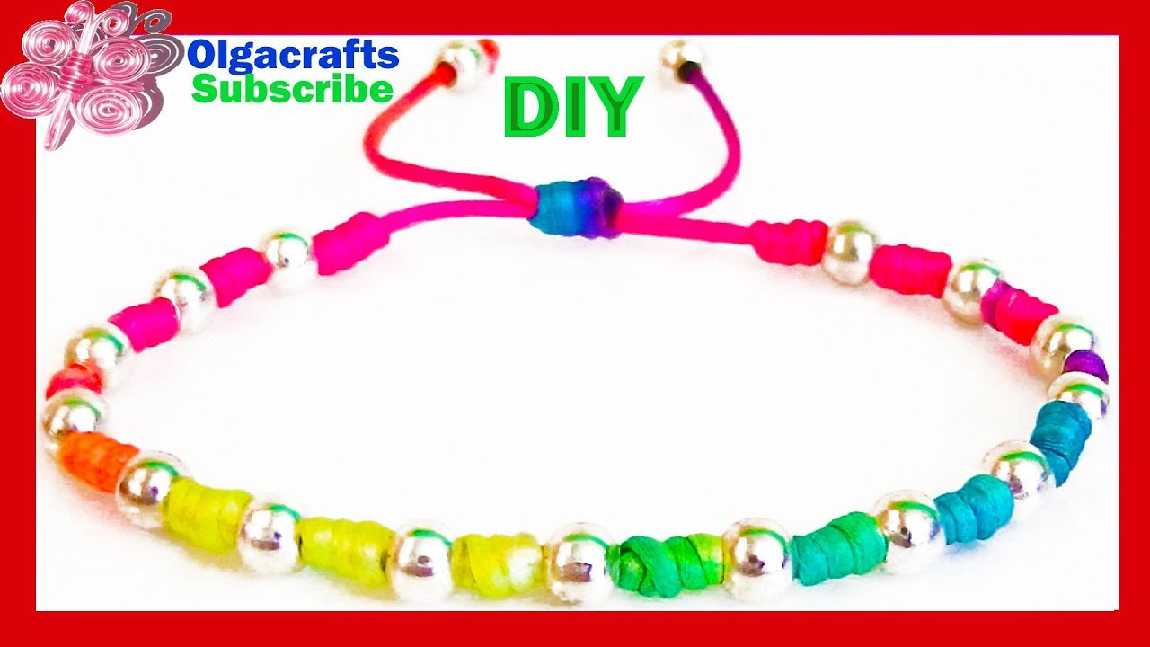 diy bracelets with beads with string friendship bracelets tutorial