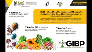 COVID- 19 and Non Pharmacological Therapeutic Strategies in the Colombian Context: A review. - GIBP.