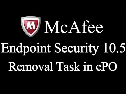 mcafee endpoint security 10.1 deinstallieren