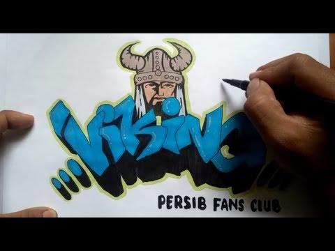 Membuat GRAFFITI VIKING   PERSIB FANS CLUB
