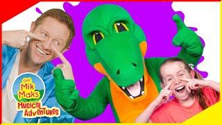 Bruce The Hairy Crocodile | Educational Kids Songs and Nursery Rhymes | The Mik Maks