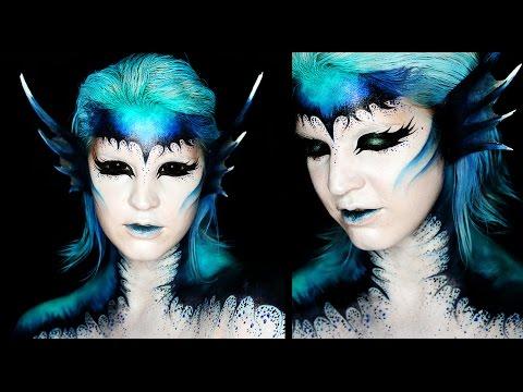 Dark mermaid makeup