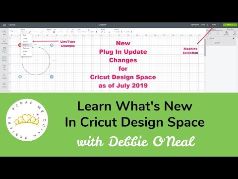 NEW Design Space Plug In Update Changes as of July 2019 - YouTube