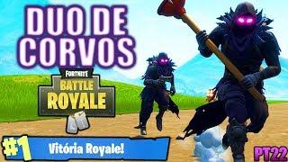 CAINDO EM TORRES TORTAS COM A DUPLA DE CORVOS - Fortnite Battle Royale - #SALVEI