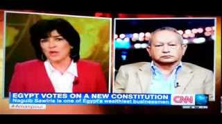 Christiane Amanpour on CNN International stands up for journalism in Egypt 14 January 2014