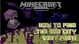 minecraft pocket edition how to find an end city fast mcpe 0 17 new command