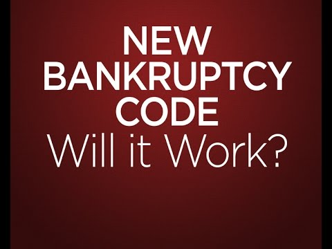 New Bankruptcy Code: Will It Work? - The Firm