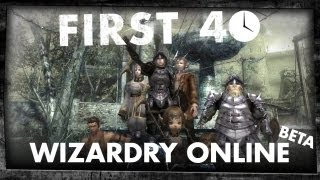 First 40 - Wizardry Online (Gameplay)