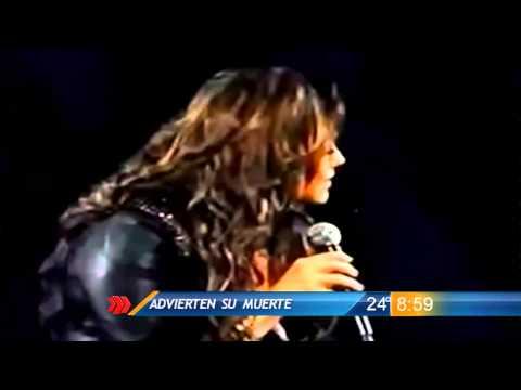 Advierten a Jenni Rivera de su muerte durante concierto en Monterrey
