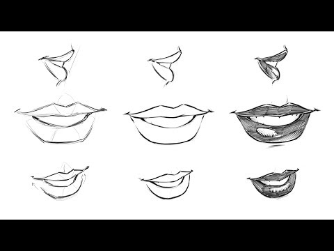 How to Draw Comic Style Female Lips - Step by Step