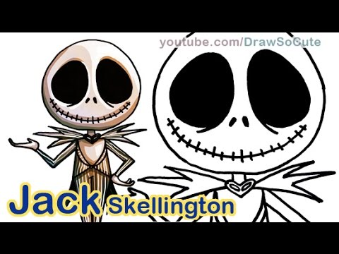 How To Draw Animated Jack Skellington Pumpkin King Cute Step By Step