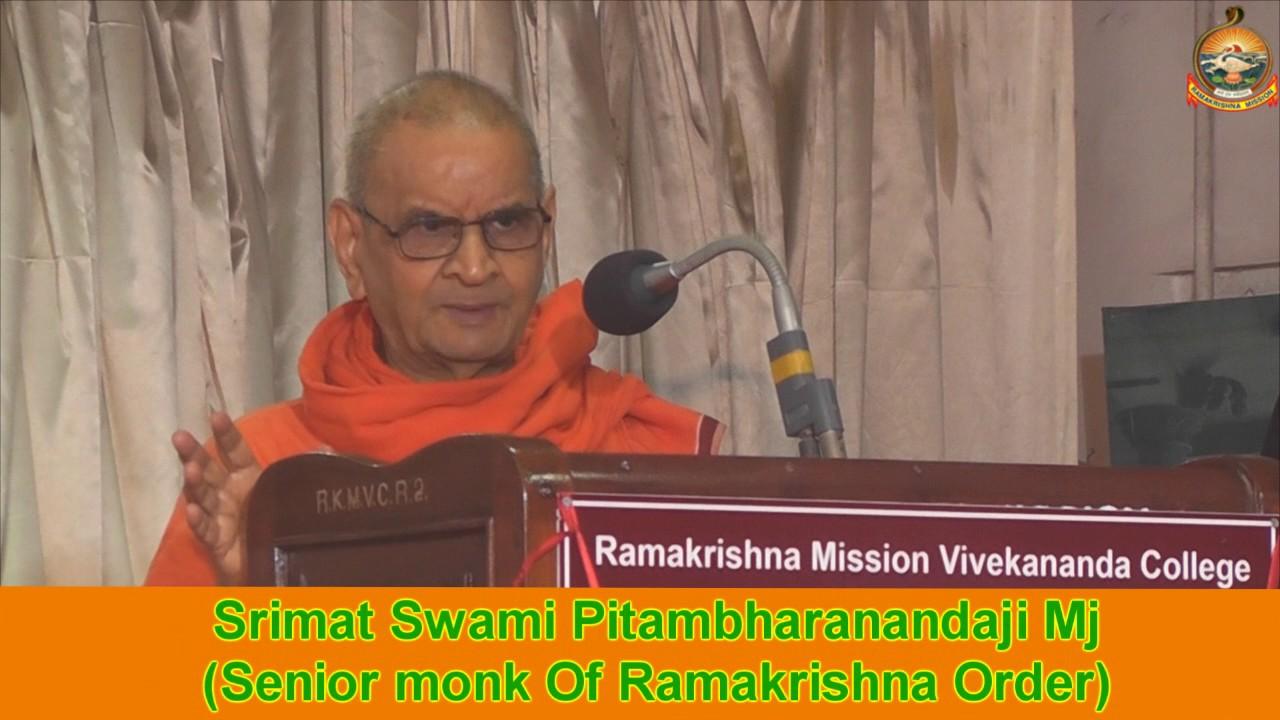 Swami Pitambharanandaji Mj Speech On holy Mother sri Sarada Devi