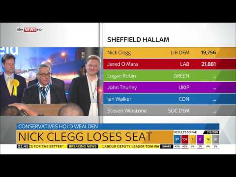 Sky News HD | Nick Clegg Loses Sheffield Hallam Seat June 2017