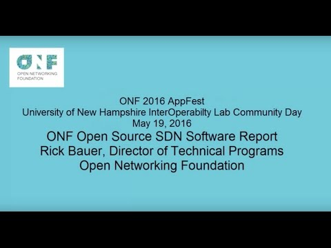 ONF Open Source SDN Software Report Rick Bauer May 2016