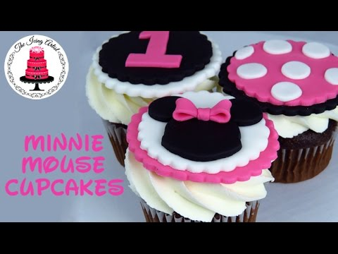 Minnie Mouse Cupcake Toppers How To With The Icing Artist Youtube