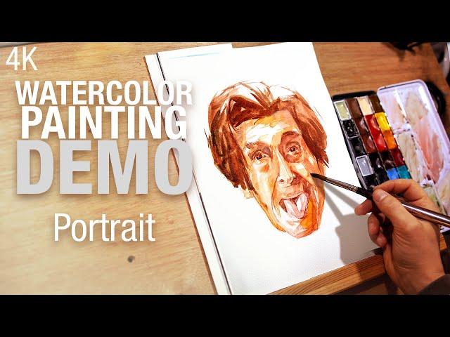 🎨 Demo aquarelle - Peindre un portrait tirant la langue