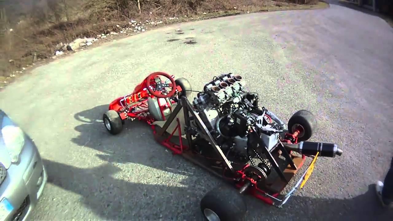 how to build a bike engine go-kart