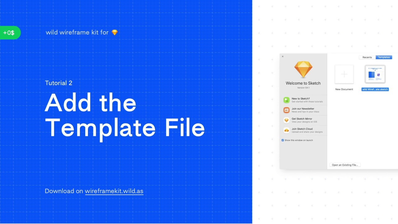 Tutorial 2 – Add the Template File – wild wireframe kit