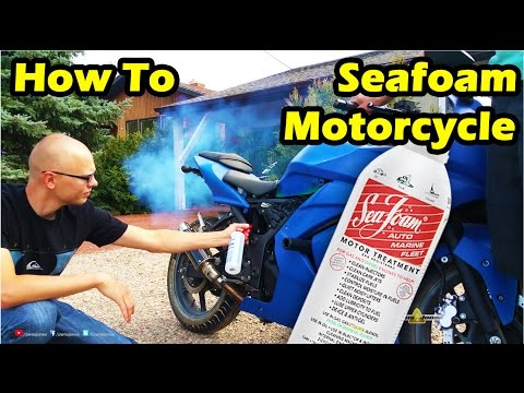 How to Put Seafoam in a Motorcycle - Ninja 250 - YouTube