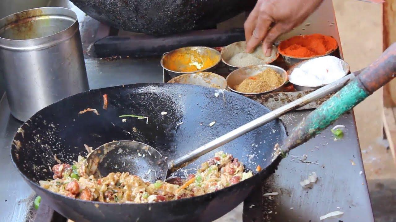 Chicken Fried Rice Preparation  Balaji Chicken Stall Indian Street Food   Youtube