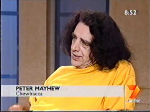 Sunrise interview with Peter Mayhew and Yvonne Craig (~2002ish)