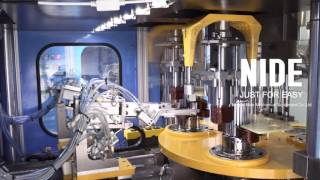 Fully automatic stator production line with robot from NIDE,China