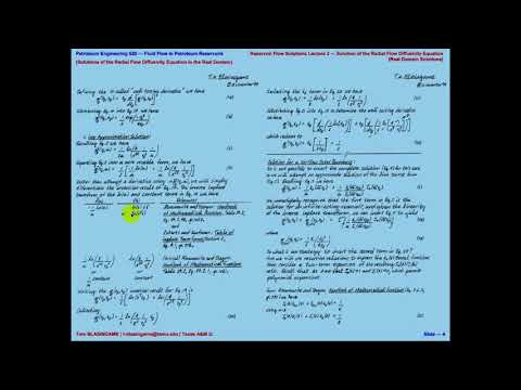 Solution for Radial Flow Diffusivity Equation (Real Domain Solutions)