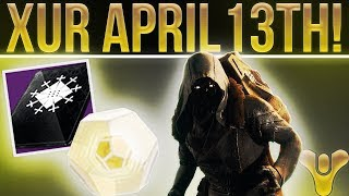 Destiny 2. Xur EXOTIC LOOT! Exotic Weapon, Armor, Fated Engram & More! (April 13th)