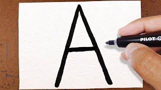 """Como Transformar a Letra """"A"""" em uma Árvore de NATAL"""