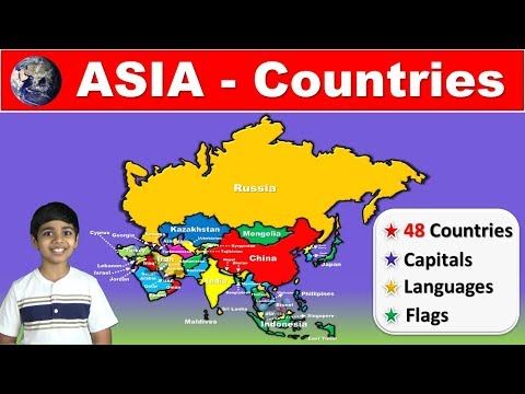 Countries of ASIA | Capitals | Flags | Languages | Detailed information for Competitive Exams