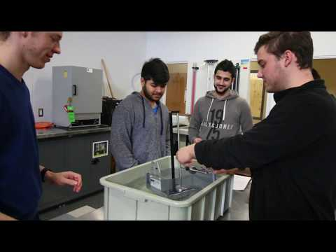 Civil Engineering Technology program - Fluid Mechanics lab