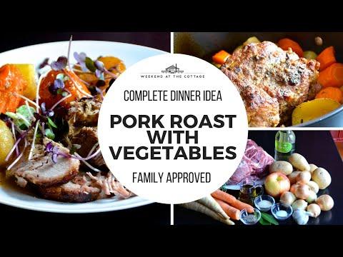 Tender PORK ROAST WITH VEGETABLES Recipe!