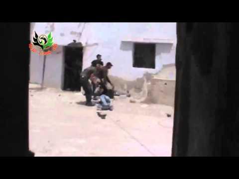 Syria  Newly arrived FSA rebel shot by SAA in Daraa 25