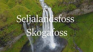 My Iceland Trip (Drone Footage) Part 3 Seljalandsfoss & Skogafoss